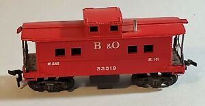 A.C. Gilbert American Flyer B&O Caboose #33519 HO Scale ~ lot t348