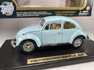 Yat Ming Road Tough 1967 Volkswagen Beetle 1/18 Zenith Blue Diecast Car