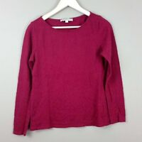 Ann Taylor Loft Womens Blouse Long Sleeve Shirt Semi Shear Floral Texture Size M