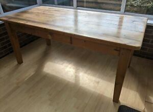 Large 6ft Pine Farmhouse Reclaimed Pine Table