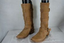 FIORENTINI+ BAKER WOMEN  BELTED  RIDING BOOTS EU 39 US 9 .MADE IN ITALY