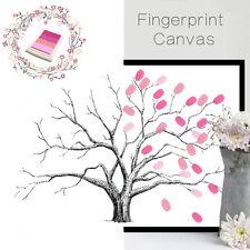 Canvas Wedding Tree Fingerprint Signature Guest Book Decor Party Baby Shower Ink