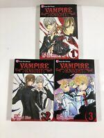 Lot Shojo Manga Books in English Vampire Knight 1-3 Matsuri Hino