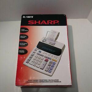 NEW Sharp EL-1801V Portable Electronic Printing Calculator - FAST FREE SHIPPING