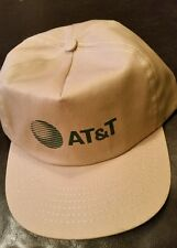 Vintage Snapback  Beige AT&T Trucker Cap Made in USA 1980s-90s