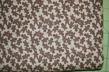 Christmas Fabric, Gingerbread Man  Quilting, Crafting Cotton, per yard