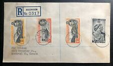 1948 Ascension Registered Cover to Montreal Canada Royal Silver Wedding KGVI