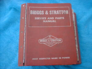 Vintage Briggs & Stratton Service Parts and Manual 1968 and BACK Large RED Book