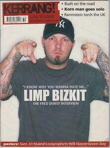 Kerrang Magazine December 15 2001 Limp Bizkit Korn Bush Rammstein White Stripes
