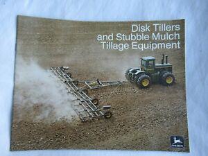 1974 John Deere disk tillers stubble mulch equipment brochure