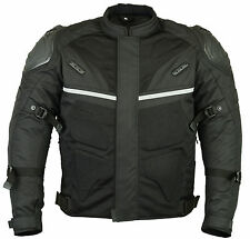 Motorcycle Motorbike Sporty Jacket Textile Cordura Air Mesh CE Armoured Black 2xl