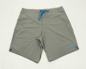 Patagonia Light & Variable Gray Stretch Swim Board Shorts Mens 32
