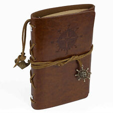 Libro Diario de Viaje Anillas y Recambio Vintage Kraft en Simil Piel Marron 4319