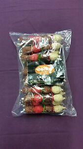 Rawhide Munchy Kebab x20 Natural Hide Dog Chew Dental Treat Crunchy