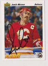 91/92 Upper Deck Jamie Macoun Calgary Flames Autographed Hockey Card