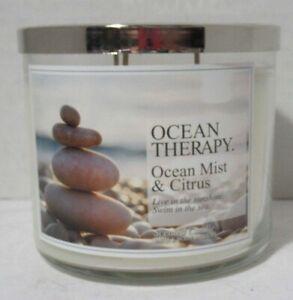Bath & Body Works 3-wick 14.5 oz Large Jar Scented Candle OCEAN MIST & CITRUS