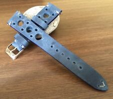 Leather watch strap 20mm, racing Watch Strap, rally watch band, Watch Strap 19mm