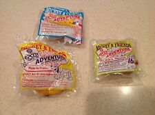 McDonalds Happy Meal Toys Adventures at Walt Disney World NIP Lot of 3