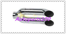 """Universal Muffler Tip 2.25"""" Inlet Double Turndown 2.5"""" Outlet 11"""" Long Exhaust"""