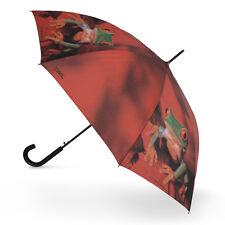Doppler Art Collection Crochet Poignée Automatique Marche Parapluie-Rouge Tree Frog