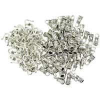 30 Sets Alloy Hook End Caps Leather Cord Beading Crafts Crimp Bead Wholesale