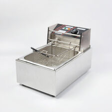 MT8 220V Commercial Electric Deep Fryer with Basket 6L Tabletop Machine for Fry