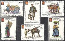 Bélgica 1975 oficios/proveedores/Caballo/Perro/carros/stampex/transporte 6v Set (n43135)