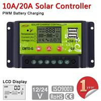 10/20A 12/24V LCD Solar Panel Battery Regulator Charge Controller Auto Switch PK