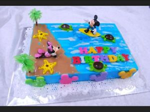 Surfers Mickey Mouse Friends DecoPac Minnie Mouse Sunbather Decopac Cake Toppers