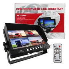 "4 Channel 4PIN 9"" 4 Split Quad Screen Car Rear View Monitor For Reversing Camera"