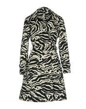 ADD soprabito trench cappotto donna tg 44 bianco nero animalier fantasia zebra