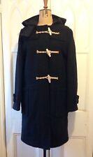 £399 Gloverall Ladies Original Monty Black Wool Heritage British Duffle Coat S