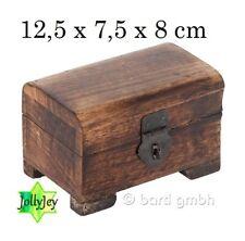 Holz Deko Box Truhe Schatulle Schatztruhe Strandgut 8 x 8 cm