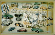 VW Volkswagen 50iger Jahre Blechschild Schild Blech Metall Tin Sign 20 x 30 cm