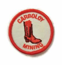 Vintage 70's Carboloy Mining Tool General Electric Company Patch