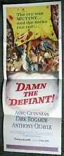 DAMN THE DEFIANT/H.M.S. DEFIANT original movie poster DIRK BOGARDE/ALEC GUINNESS