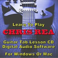CHRIS REA Guitar Tab Lesson CD Software -  7 Songs