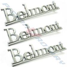 BELMONT Boot Guard Pillar Badges x3 New , Chrome for HQ Fender Holden Kingswood