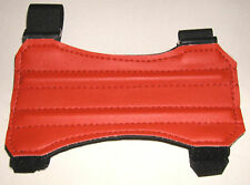 "ARCHERY ARM GUARD. 7"" RED TWO STRAP VINYL GUARD BY ARROWHEAD"