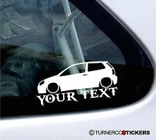 Custom Text ,Lowered Volkswagen /VW Polo 9n3 , Mk4, GTi /TDi car sticker Decal