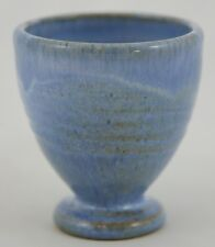 """SHEARWATER 3.5"""" EGG CUP VASE BY JAMES ANDERSON 2002 BLUE FLOWING GLAZE MINT"""