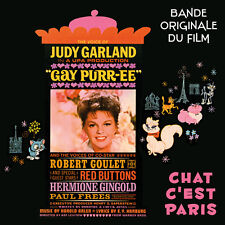 CD Gay Purr-ee (Chat c'est Paris) - Bande Originale du Film - BOF - Judy Garland