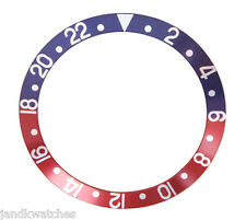 Blue & Red Bezel Insert to Fit Rolex GMT 16750-6