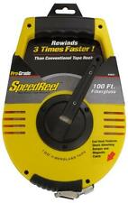 1/2 in. x 100 ft. Linear Open Reel Fiberglass Engineers Tape Measure- SpeedReel