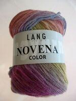 Novena Color 50g von Lang Yarns Fb 09 Merino und Alpaka superleicht