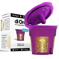 DI ORO 24K GOLD K-Cup Reusable Filter for Keurig 2.0/1.0 Small Single K-Cup