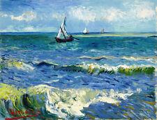 Vincent van Gogh Seascape at Saintes-Maries 16.5X11.7 canvas print reproduction