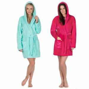 Ladies Large Size Hooded Night Bath Gown Soft Feel 18 20 22 24 Nightwear Robe