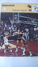Rencontre Sportscaster tarjeta Rara Coleccionable baloncesto árbitro de señales