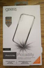 """gear4 by ZAGG Piccadilly D3O Military For iPhone XS Max 6.5"""" Clear-Black #463"""